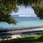 View from the fale, Aganoa Beach