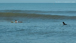morning surf at Tg Aru, Tanjung Aru Beach photo