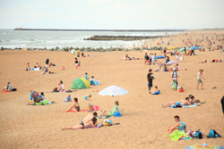 Sand, People, Rocks and Water, Anglet - Marinella photo