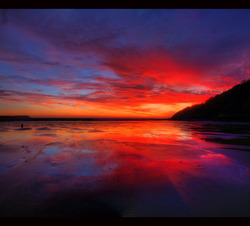 If horizons collide...., Oxwich Bay photo