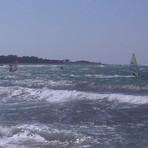 Windsurfers with 25 knots, Ristna Hiiumaa Island