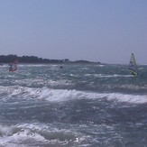 Windsurfers with 25 knots, Ristna Hiiumaa Island