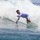 Billy heading for the lip, Nusa