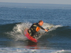 Surf Kayaking, Seabrook Beach photo