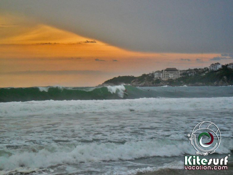 Puerto Escondido ola kiteboarding, Zicatela