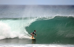 Biggest wave of the day!, Playa Remonso photo
