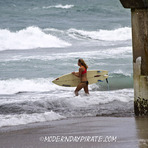 Isaac Waves, Lake Worth Pier