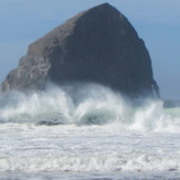 surf spray, Pacific City/Cape Kiwanda