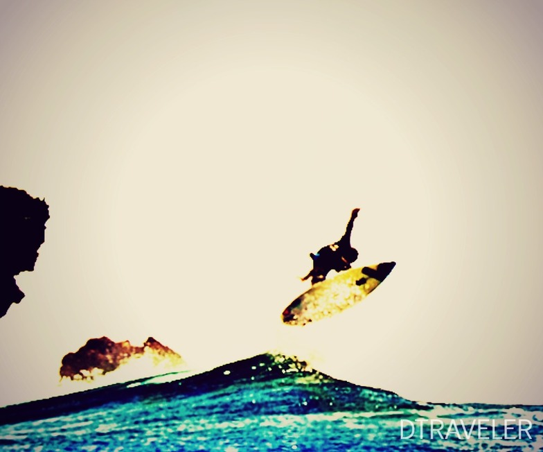 ripping the waves