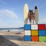 Surfin on the Rube bra, Maroubra Beach