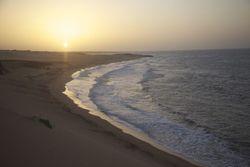 Where the sand meet the sun that meets the sea, Dunas de Taroa photo