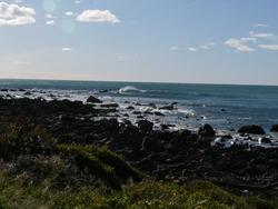 Pukerua surf at high tide, Pukerua Bay photo