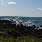 Pukerua surf at high tide, Pukerua Bay