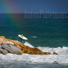 Chasing rainbows and surf at Varazze