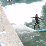 Surfeando en El Muro - Santander, El Sardinero - Primera