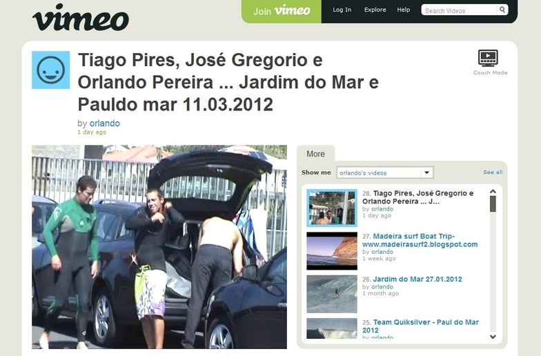 'SACA' Tiago Pires, Jose Gregorio & Orlando Pereira surf Paul do Mar