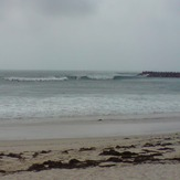 good surf near the breakwall, Blacksmiths Beach