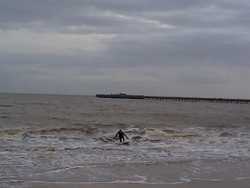winter surf, Walton-On-The-Naze photo