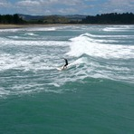 Small summer swell, Tolaga Bay