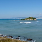 The Island, from Sponge Bay, Tuamotu Island