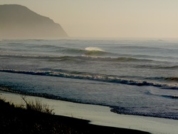 Early for offshore - Chalet, Wainui Beach - Whales photo