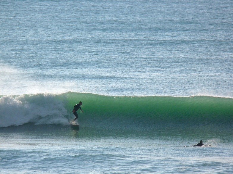 Second day of fading swell, Wainui Beach - Pines