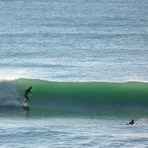Second day of fading swell, Wainui Beach (Pines)