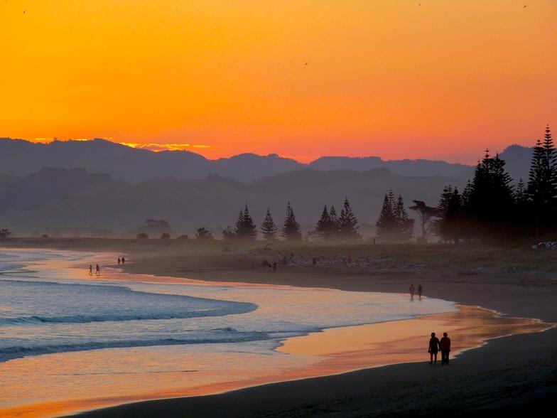 Midway Beach Sunset