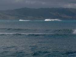 The Spit at high tide, Mahia Spit photo