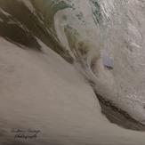 foamy barrel, Clifton Beach