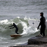 Lee Williams surfing the Elbow, Sheboygan