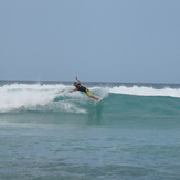Adrian rippin' it, Playa del Macao