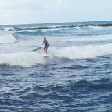 Surfin Grandma Edy at 1st Bay, Pohoiki