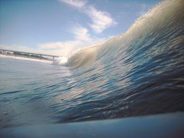 in the water, New Brighton Beach