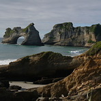 Wharariki mal wave, Wharariki Beach