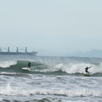 Early morning action, Midway Beach - Surf Club