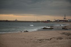 evening surf, Matosinhos photo