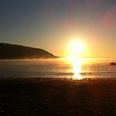 early morning mist, Maenporth