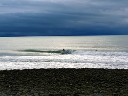 Winter surf at The Glen photo