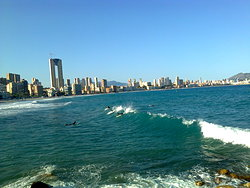 Surf en playa Poniente  photo