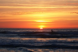 Sunset surf, Playa de Gerra photo