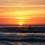 Sunset surf, Playa de Gerra