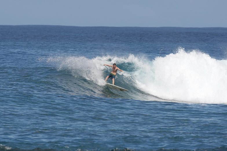 My Bro smashin it, Aganoa Beach