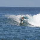 My Bro smashin it, Aganoa Beach