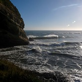Two incoming swells plus backwash, Fletchers Beach