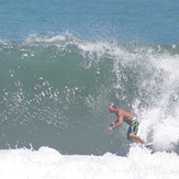 Two guys out in bath water..., Playa Hermosa