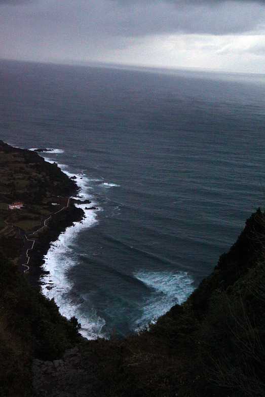 Praia do Norte from the cliff above, Faial - Praia do Norte