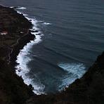 Praia do Norte from the cliff above, Faial - Praia do Norte
