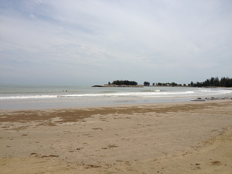 calm but funny, Tungku Beach or KM26
