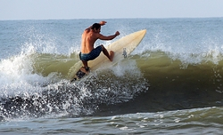 finally...some small surf, Surf City Pier photo